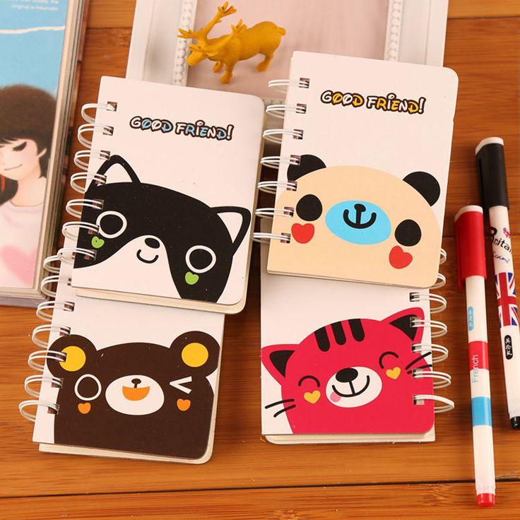 Каваи дневник блокнот медведь кошка Catoon твердый переплет симпатичные переплет ноутбук канцелярских школьные принадлежности оптовая продажа купить на AliExpress