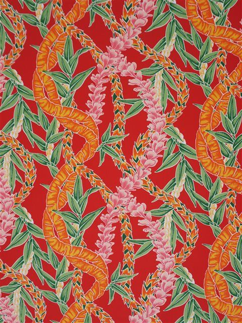 Beautiful Mix Lei Red Poly Cotton LW-18-644