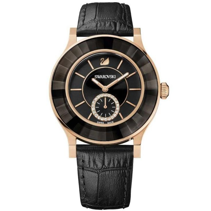 Octea Classica Rose Gold Tone Black Ladies Watch