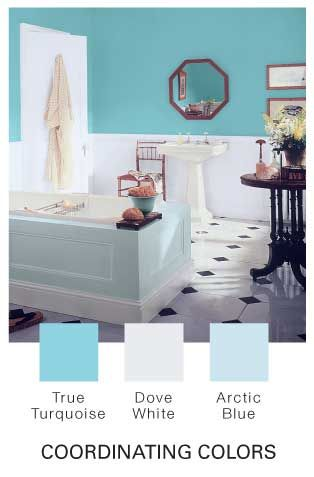 Lovely True Turquoise By Glidden · Bathroom Paint ...