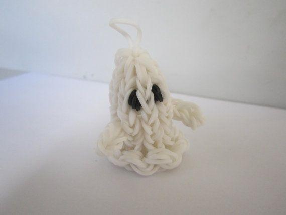 Cute rainbow loom ghost charm for sale