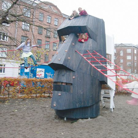 How cool are these playgrounds!? Definitely take it a step beyond the standard swing set and slide!