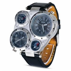 This is a fashionable multi-movement big dial watch. Along with having great style and visual impact this watch has much more to offer. The watch not only shows time, but also has compass, thermometer and lots more for your assistance. FeaturesStyle : Fashion