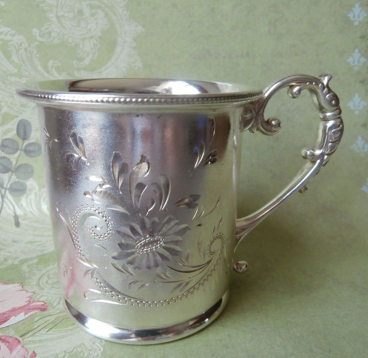 1000 Images About Sterling Silver Baby Cups On Pinterest