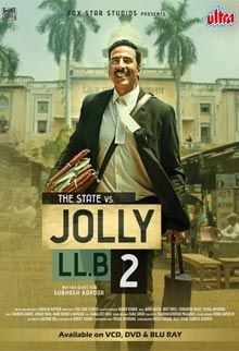 Ultra recently added to its library - Jolly LLB 2. Jolly LLB 2 DVD and VCD Rights are now available at Ultra. Jolly LLB 2 is produced by Naren Kumar, the film is directed by Subhash Kapoor. Star cast: Akshay Kumar, Huma Qureshi, Saurabh Shukla, Annu Kapoor. For more details and to purchse the DVD & VCD rights of Jolly LLB 2.