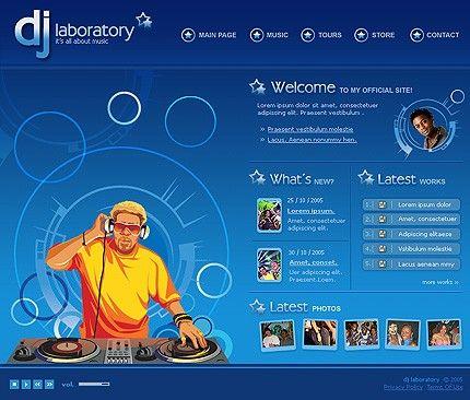 Music DJ Flash Templates by Di