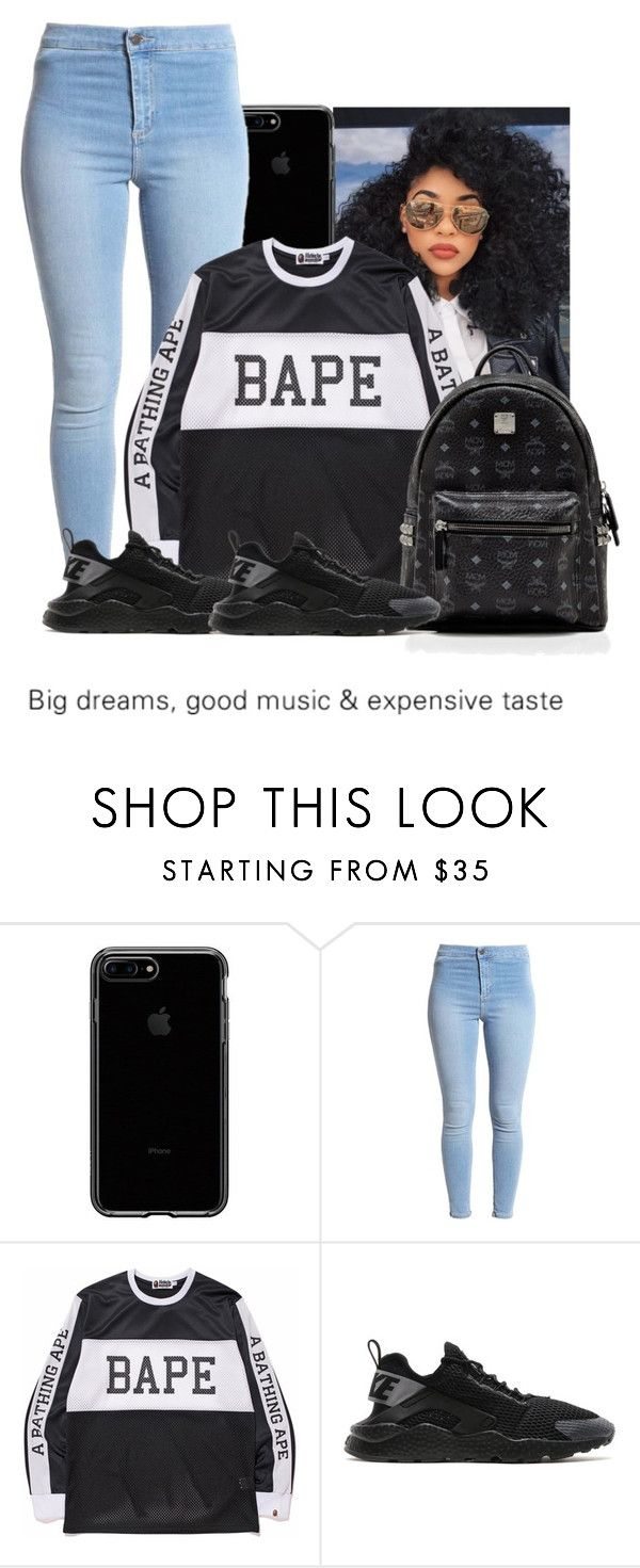 """Untitled #612"" by ohhthatsmaya ❤ liked on Polyvore featuring A BATHING APE, NIKE and MCM"