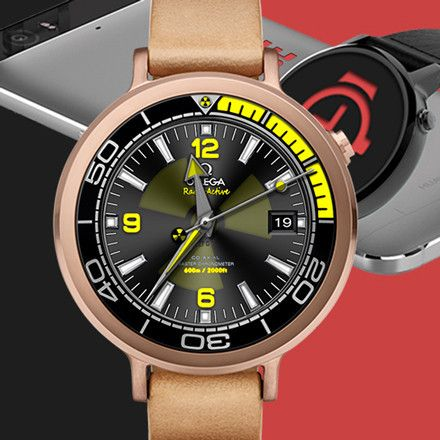 Interactive Omega RadioActive Hulk Watch Face (Paid) Get yours now!!! #android #androidwear #watchface #watchmaker