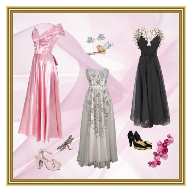 """""""1940s gowns - so elegant"""" by christina-63 on Polyvore"""