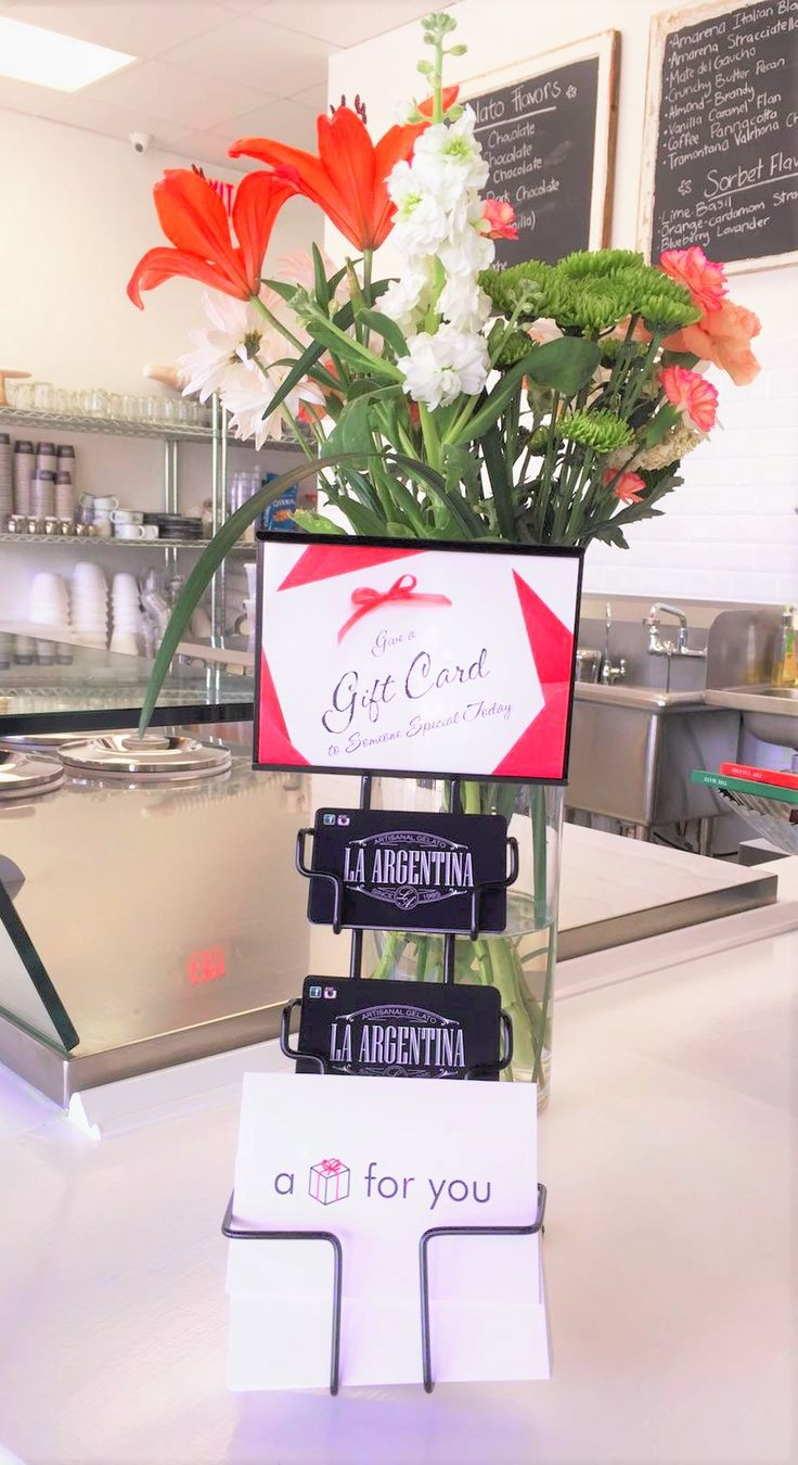 Give the gift of great gelato, La Argentina Gelato now offers gift cards!