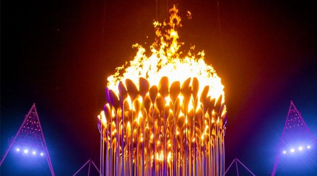 The Olympic Flame at London 2012 Olympics - beautiful photos showing how the flames were designed, built and a video of the lighting of the flame at the opening ceremony of the Olympics.