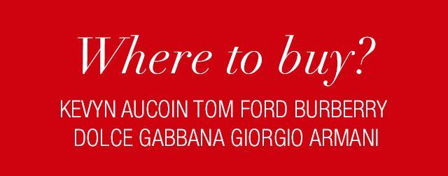 Dónde comprar maquillaje #Kevyn Aucoin, #Tom Ford, #GiorgioArmani, #Burberry y #DolceGabbana #GraphicDesign