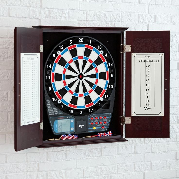 Wakefield Viper 787 Electronic Dart Board And Cabinet Set | From  Hayneedle.com