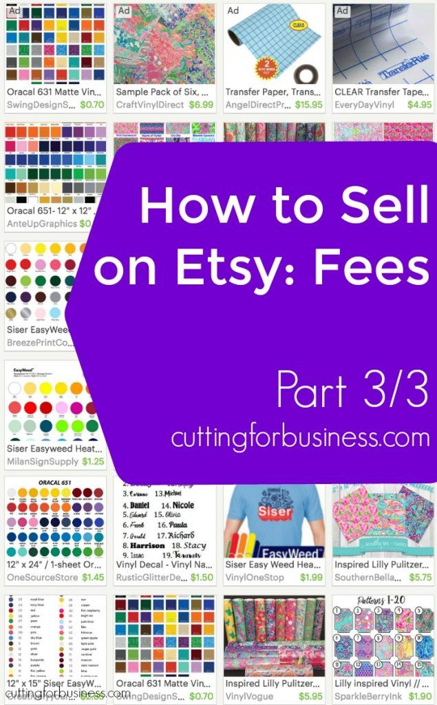 Selling Your Silhouette Cameo or Cricut Made Crafts on Etsy: Fees (3/3) - by…