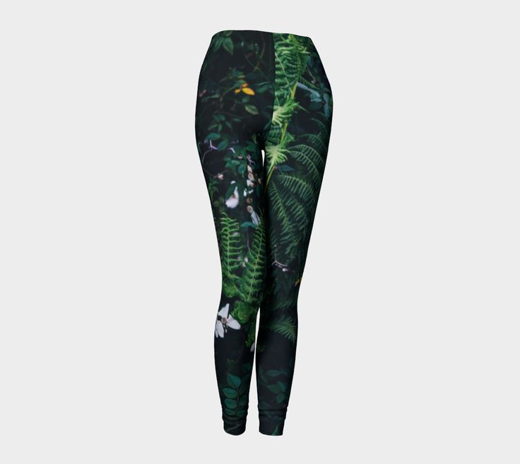 "Leggings+""Fleurs+Vertes""+by+Mixed+Imagery"