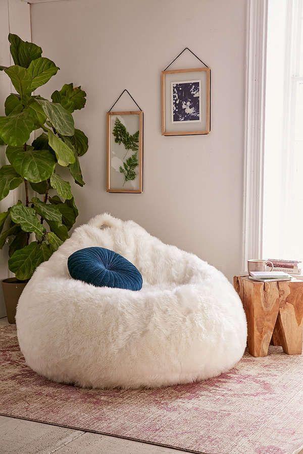 Aspyn Faux Fur Bean Bag Chair Living Room