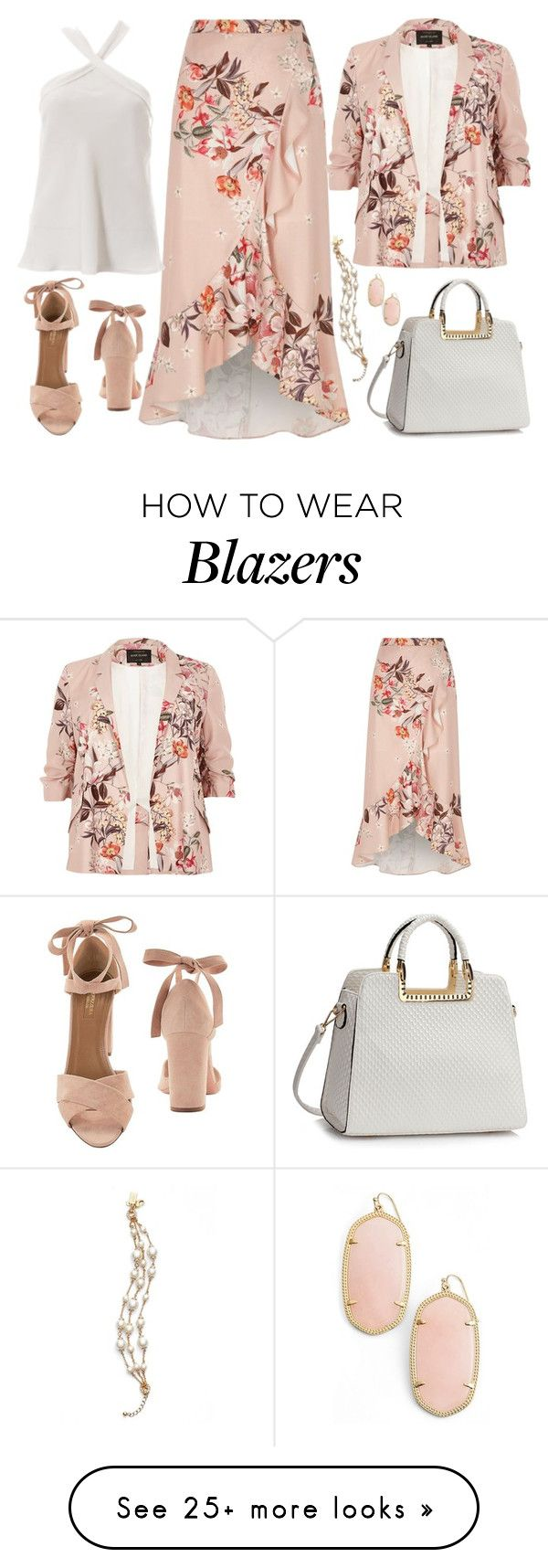 """Untitled #3281"" by emmafazekas on Polyvore featuring River Island, Aquazzura, Kendra Scott and Kate Spade"