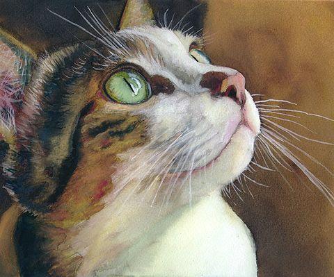 Gatos no art. Gatos artista da aguarela Alex Carter - Mestrado Feira - artesanal, feito à mão