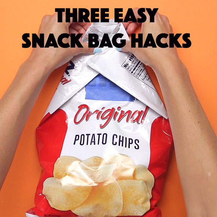 Finally 3 Easy Snack Bag Hacks And I Can't Stop Munching On My Chips
