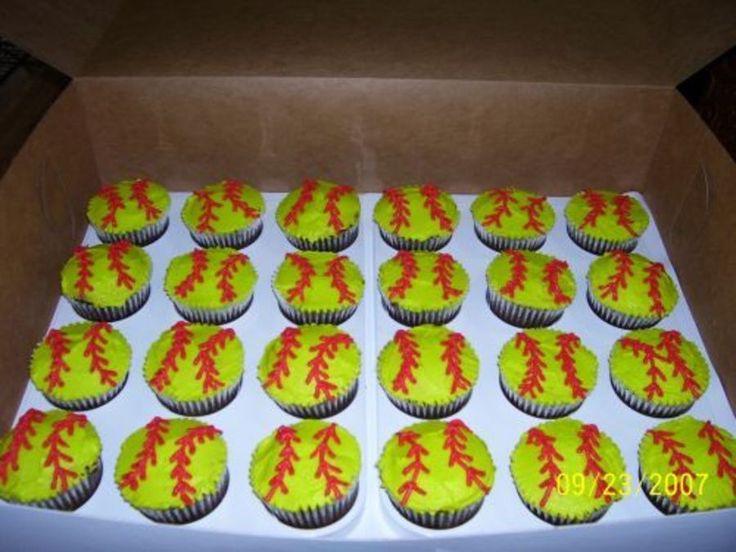 Jordan's Girls Softball Cupcakes