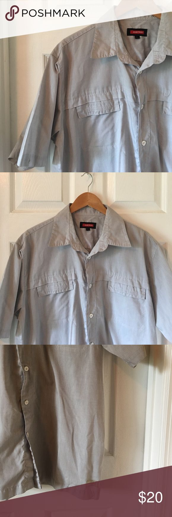 The Perfect Casual Button Down Super cute Pioneer casual button down shirt. Super light and comfortable. Light blue/gray color. EUC, barely worn. Two front pockets. Fabric: 65% Polyester 35% Cotton Pioneer Shirts Casual Button Down Shirts