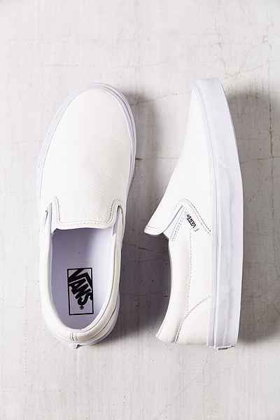 Vans Premium Leather Classic Womens Slip-On Sneaker - Urban Outfitters