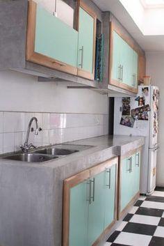 armários de cozinha de concreto