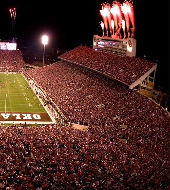 Oklahoma Memorial Stadium, Norman, Oklahoma home of  Okalhoma Sooner Football <3
