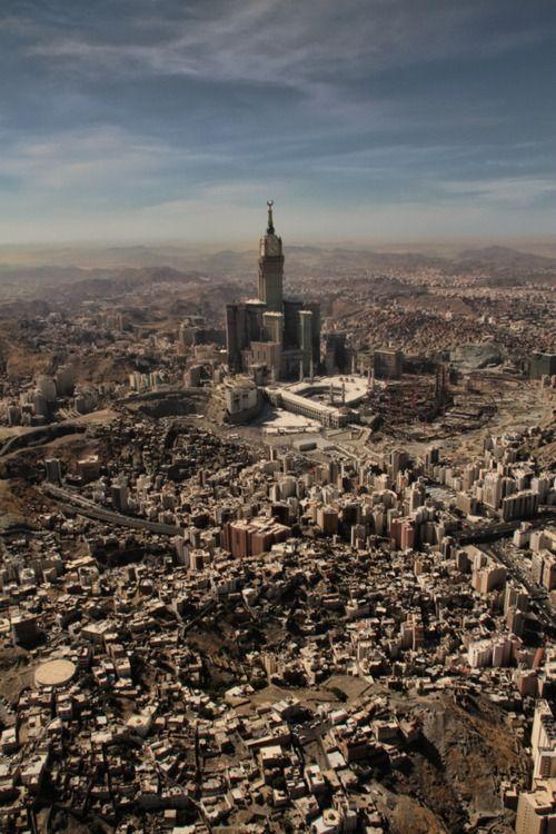 Mecca, Saudi Arabia Ne istiyorum biliyor musunuz, zemzem tower'ı tıraş etmek.