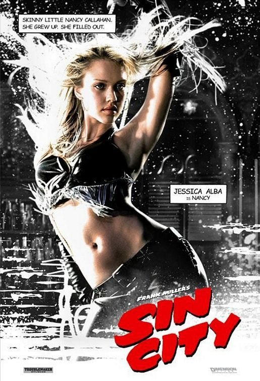 Jessica Alba Sin City (love the idea- and these variant covers/posters)