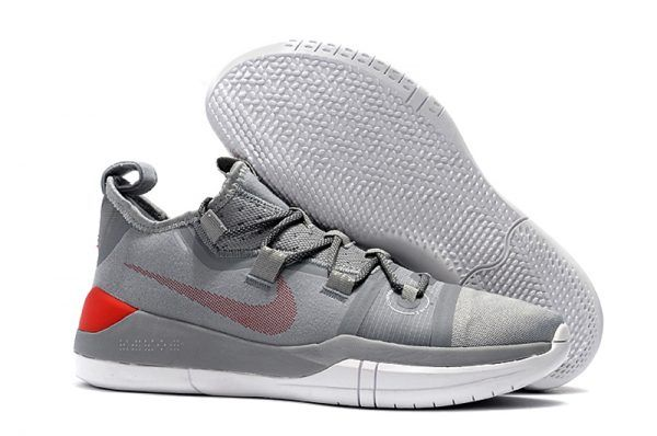 quality design b3788 2882a 2018 Nike Kobe AD Grey Red White Mens Size-1