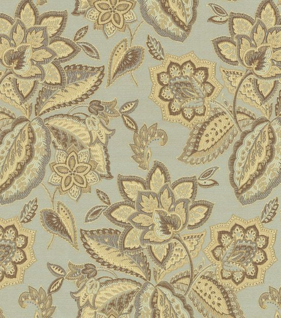 Home Decor Upholstery Fabric-Waverly Treasure Trove / Opal