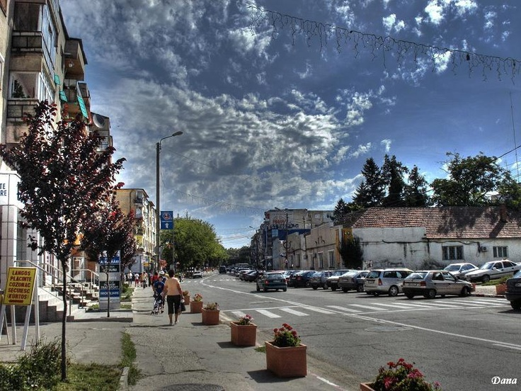 Marghita, Romania...Pic shows my little apartment on the left
