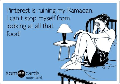 Pinterest is ruining my Ramadan. I can't stop myself from looking at all that food!