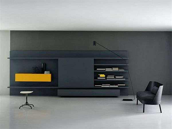 The modular Modern wall unit by Piero Lessoni