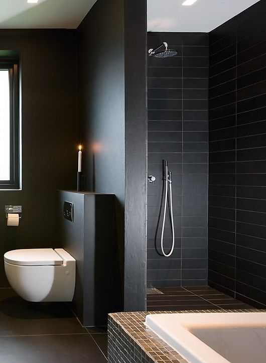 Best 25+ Black bathrooms ideas on Pinterest | Bath room, Bathroom ...