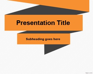 Simple Origami PowerPoint Template is a simple background with origami or korigami