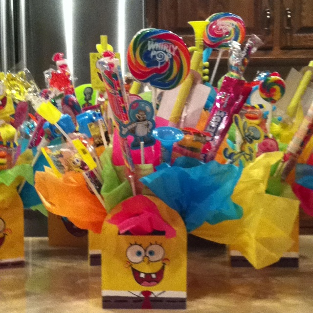 Sponge Bob Birthday Centerpiece / Party Favor