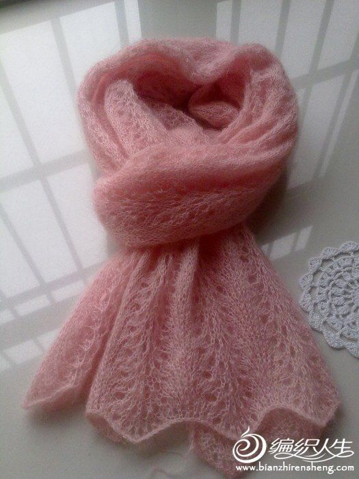 Ажурный шарф из мохера