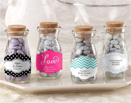 Vintage Milk Favor Jar Set Of 12 Wedding Favors Cute
