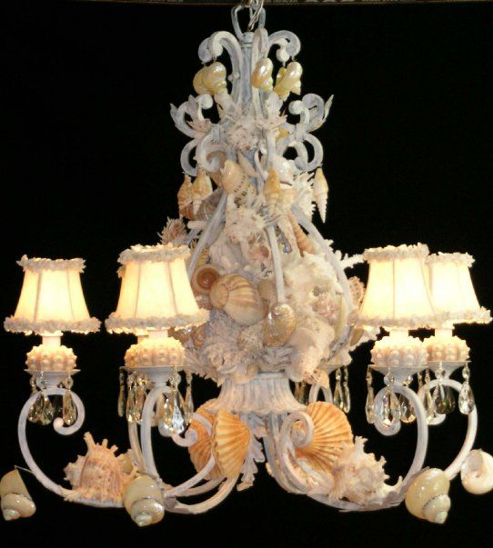 Heather Kendall Elegant Shells chandelier.  Beautiful! Katherine would have one of these.