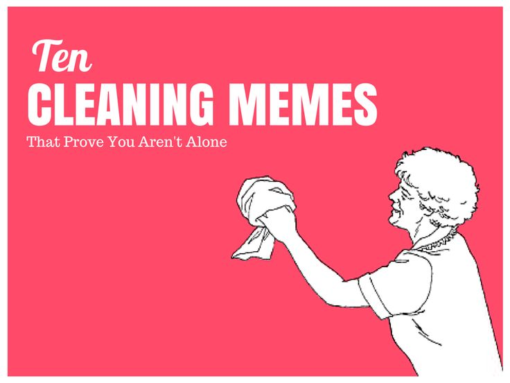10 Cleaning Memes That Prove You Aren't Alone