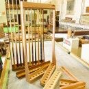 custom made snooker cue racks.   Browns Antiques Billiards and Interiors.