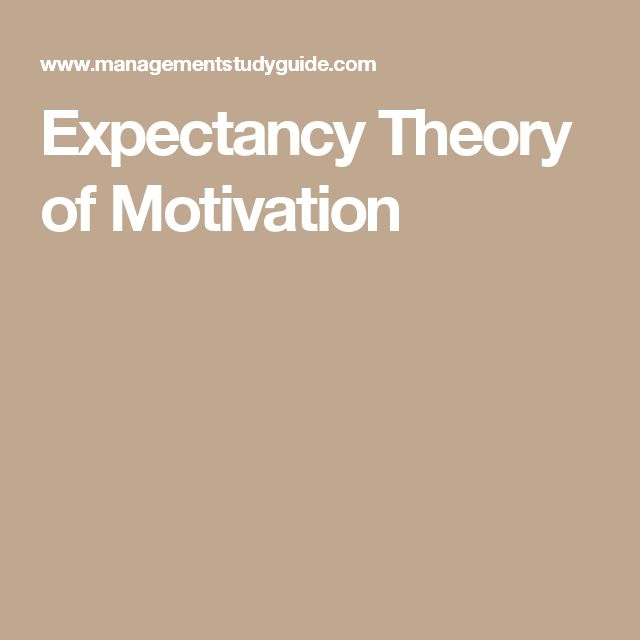 Expectancy Theory of Motivation