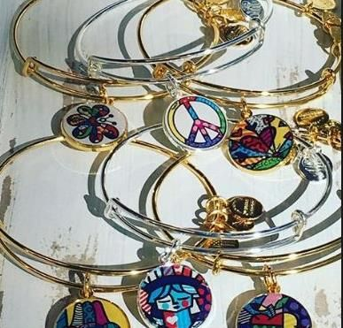 Artist Romero Britto gives visual happiness and color with these amazing Alex and Ani bangles http://www.hihosilveronline.com/locations