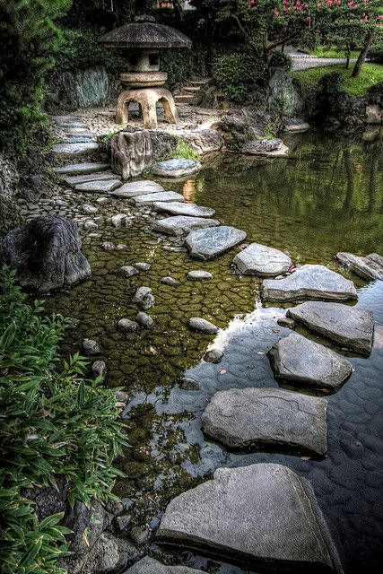 Kyu-Yasuda Garden in Ryogoku, Tokyo, Japan (by JRaptor).