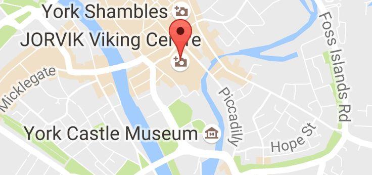 Kart over JORVIK Viking Centre