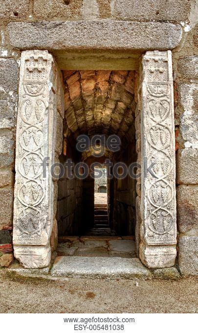 Cistern Entrance of Alcazaba muslim fortification of Merida, Spain