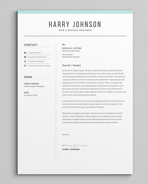 Resume Templat | Resume Template Modern Professional Resume Template For Word