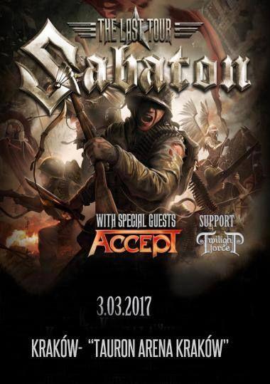 Galeria zdjęć z koncertu Sabaton i Accept w Krakowie -> http://heavy-metal-music-and-more.blogspot.com/2017/03/sabaton-zagra-w-krakowie-galeria.html
